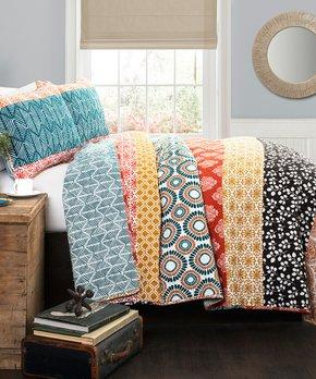 Lush Décor | Turquoise & Coral Anneka Quilt Set