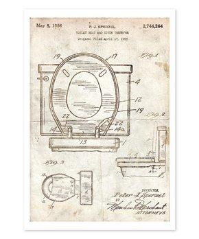 Oliver Gal | Toilet Seat 1956 Parchment Print