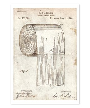 Oliver Gal | Toilet Paper Roll 1891 Parchment Print