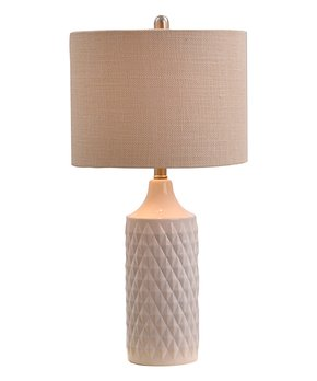 Catalina Lighting | White Catalina Quilted-Ceramic Table Lamp