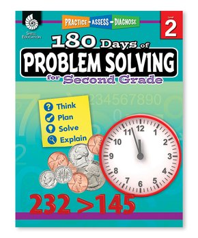 Shell Education | 180 Days of Math for First Grade Workbook & CD
