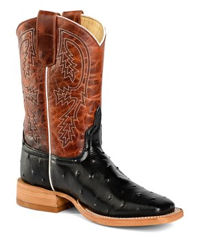 395230bf6896 Anderson Bean Kids | Brown & Blue Gator Print Leather Cowboy Boot - K… all  gone