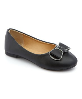 Ositos Shoes | Black Bow-Detail Ballet Flat - Girls
