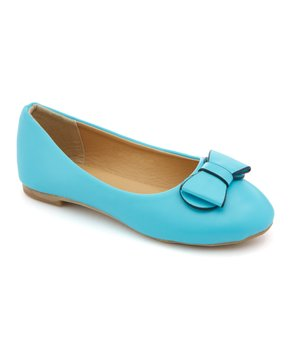 Ositos Shoes | Teal Bow-Detail Ballet Flat - Girls