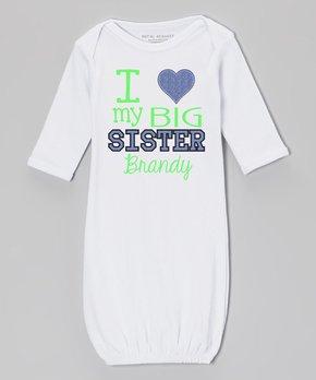 c9ac5b08c Initial Request   White Denim 'I Heart My Big Sister' Personalized Go…