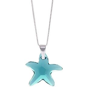 Glimmering in swarovski crystals zulily all gone indicolite sterling silver starfish necklace with swarovski crystals aloadofball Image collections