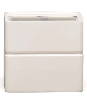 Moda at Home | White & Silver Damask Bathroom Tumbler