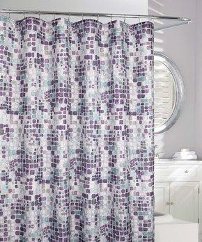 Splash Home | Navy Drizzle Ombré Shower Curtain