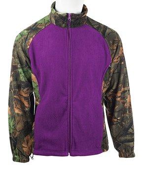 3bb77bc7b28f3 Trailcrest | Purple & Green Camo Fleece Jacket - Girls