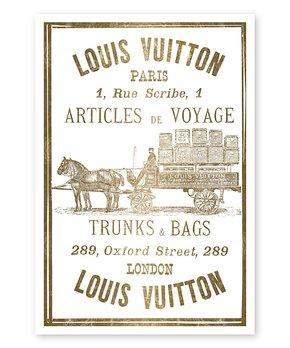 Oliver Gal | Articles de Voyage Gold Leaf Print