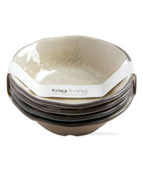 Zak Designs | Dover Moso Three-Section Plate - Set of Six