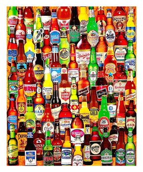 White Mountain Puzzles | Pencil Collage 1,000-Piece Puzzle