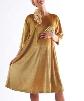 e79d628fd5b6c all gone. Madeleine Maternity   Gold Matteo Velvet Maternity Dress