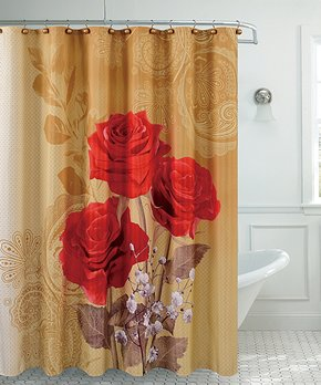 Moda at Home | Yellow & Gray Blossom Shower Curtain