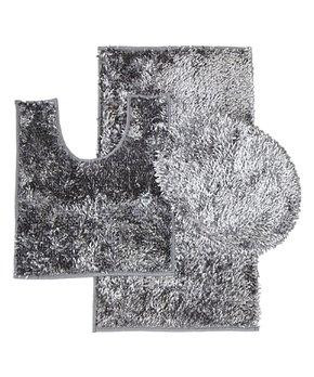 Daniel's Bath & Beyond | Gray Chenille Three-Piece Bath Rug Set