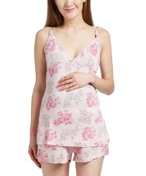 21ffd615d5170 Lamaze Maternity Intimates | Pink Floral Maternity/Nursing Empire-Wai…
