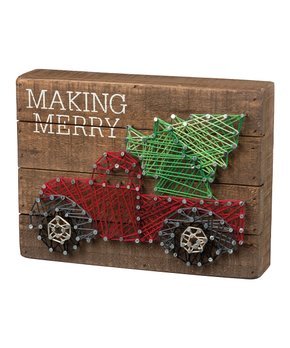 Primitives by Kathy | 'Make Merry' String Art Block Sign