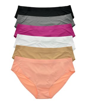 125d15b9ff1d Angelina | Nude & Pink Invisible Line Hip-Huggers Set - Women