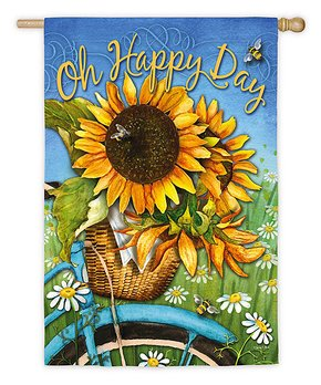 Evergreen | 'Oh Happy Day' Sunflower Flag