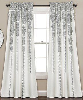 Duck River Textile | Navy & White Helen Three-Piece Curtain Panel Set