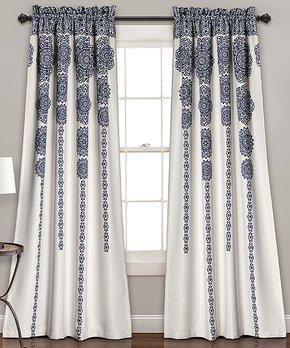 Duck River Textile | Black Wilmont Three-Piece Curtain Panel Set