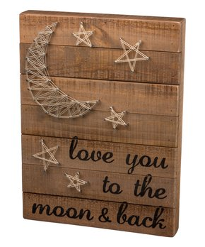 Primitives by Kathy | 'Moon & Back' String Art Wall Décor