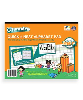 Channie's | Grades Pre-K to 1 Quick & Neat Alphabet Pad Workbook