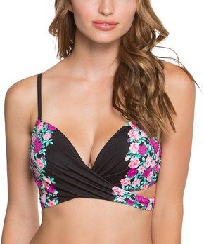 e95e0fe8cd678 Betsey Johnson® | Black Ballerina Rose Molded Bump Me Up Bikini Top · all  gone