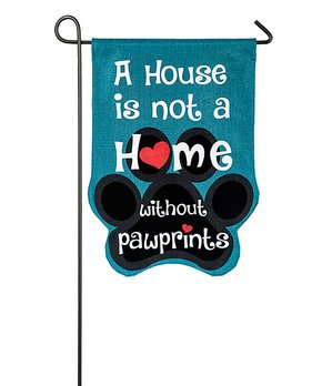 Evergreen | Paw Prints Outdoor Flag