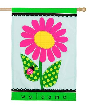 Evergreen | 'Welcome' Daisy Outdoor Flag