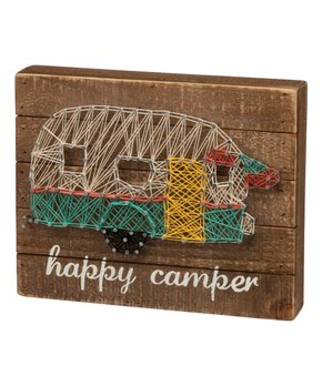Primitives by Kathy | 'Happy Camper' Wood & String Wall Sign