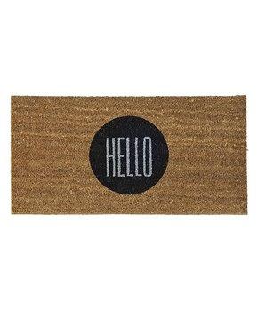 Brown 'Hello' Doormat