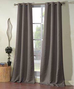 Lush Décor | Yellow & Gray Cynthia Room-Darkening Curtain Panel - Set of Two