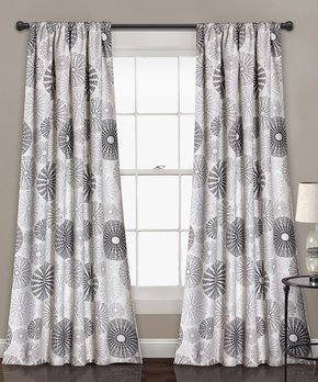 Lush Décor | Charcoal & Gray Room-Darkening Curtain - Set of Two