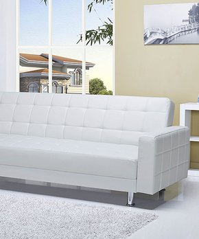 Gold Sparrow | White Convertible Sofa Bed