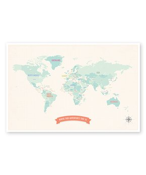 Global Guardian Project | Charcoal Gray United States of America Map Sticker Print