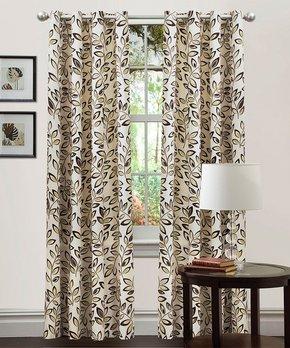 Lush Décor | Sage Julia Stripe Blackout Curtain Panel - Set of Two