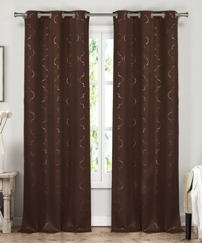 Duck River Textile | Brown Conor Valance & Curtain Panel Set