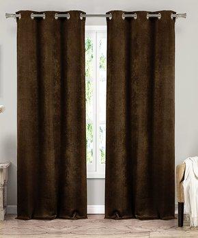 kensie | Slate Blue Maddie Blackout Curtain Panel - Set of Two