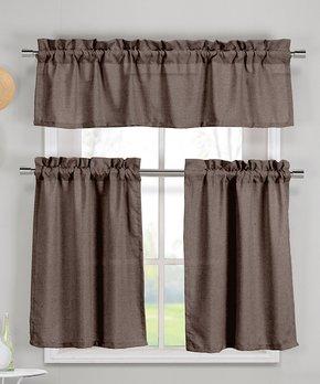 Lush Décor | Tan Geometric Curtain Panel - Set of Two