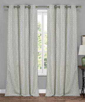 Duck River Textile | Black Phelan Blackout Curtain Panel - Set of Two