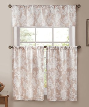 Lush Décor | Light Blue Reyna Curtain Panel - Set of Two