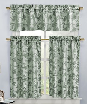 Lush Décor | Plum & Gray Prima Color Block Curtain Panel - Set of Two