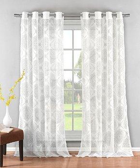 Duck River Textile | White Cherry & Strawberry Dolores Three-Piece Curtain Panel Set