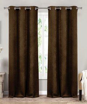 Lush Décor | Blue Teardrop Leaf Curtain Panel - Set of Two