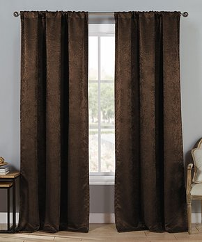 Lush Décor | Black Windsor Curtain Panel - Set of Two