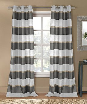 Duck River Textile | Taupe Hastings Blackout Curtain Panel - Set of Two