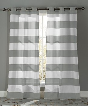 kensie | Gray Maddie Blackout Curtain Panel - Set of Two