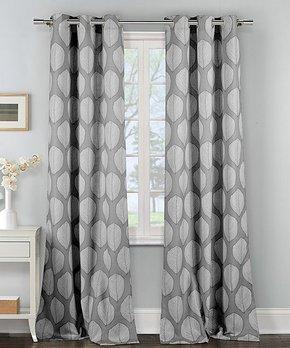 Duck River Textile | Chocolate Benneton Three-Piece Curtain Panel Set