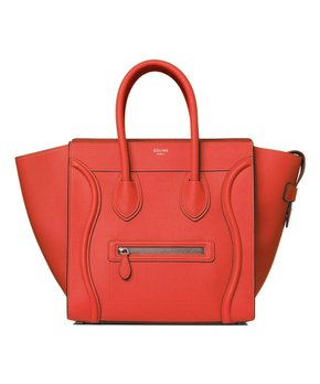 442f533b8d all gone. Céline   Vermillion Mini Luggage Leather Satchel